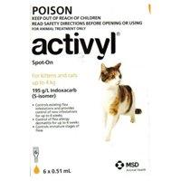 Activyl For Cat & Kitten 0-4Kg Orange