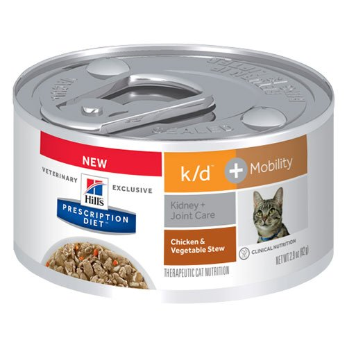 Hill's Prescription Diet k/d + Mobility Chicken & Vegetable Stew Canned Cat Food 82 gm