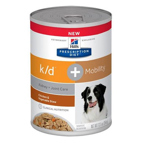 Hill's Prescription Diet k/d + Mobility Chicken & Vegetable Stew Canned Dog Food 354 gm
