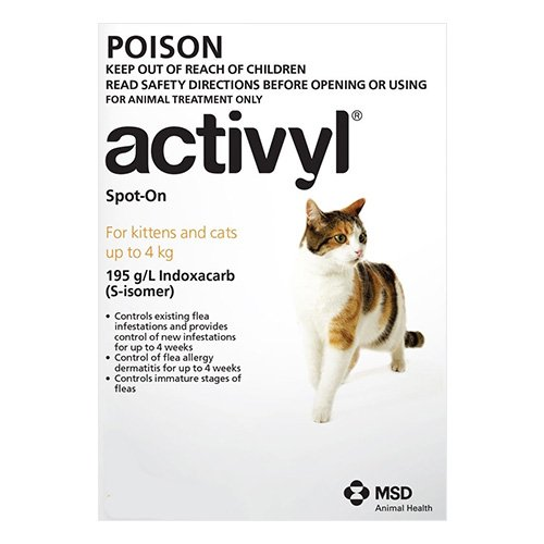 Activyl For Cat & Kitten 0-4Kg (Orange)