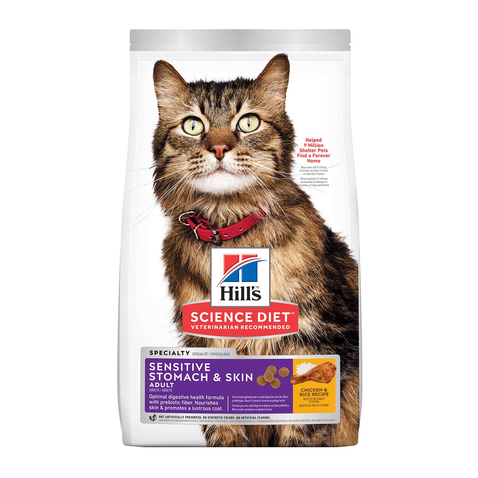 Hill's Science Diet Adult Sensitive Stomach & Skin Chicken & Rice Dry Cat Food