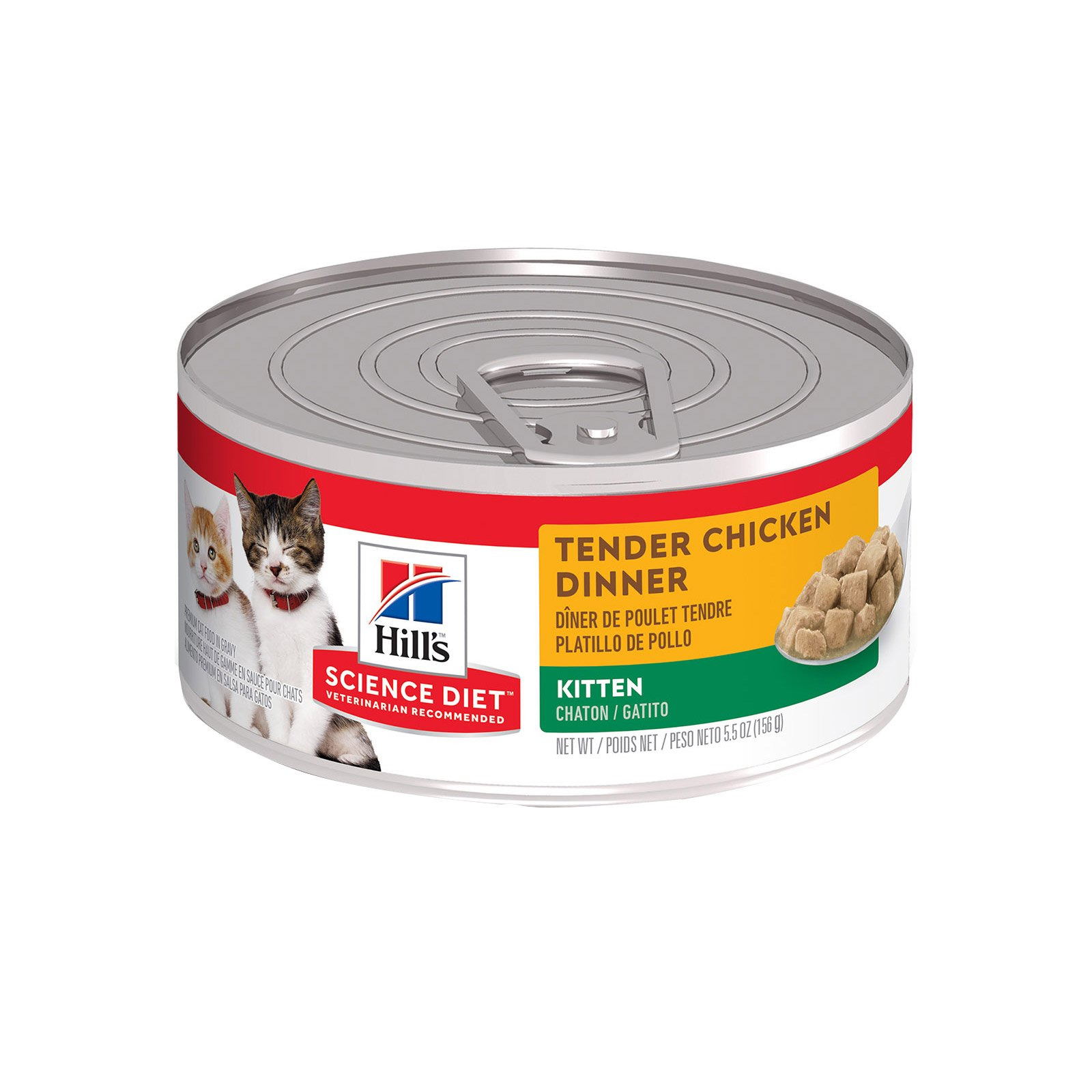 Hill's Science Diet Kitten Tender Chicken Dinner Canned Wet Cat Food  156 gm