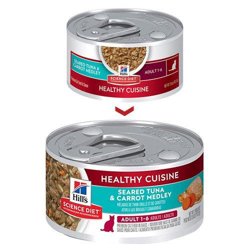Hill's Science Diet Adult Healthy Cuisine Seared Tuna & Carrot Medley Canned Cat Food 79 Gm