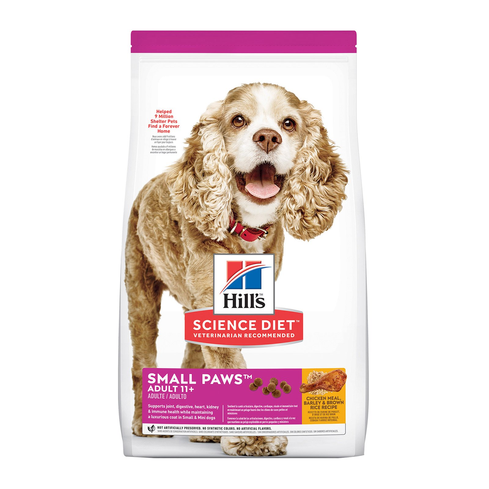 Hill's Science Diet Adult 11+ Small Paws Chicken, Barley & Rice Dry Dog Food