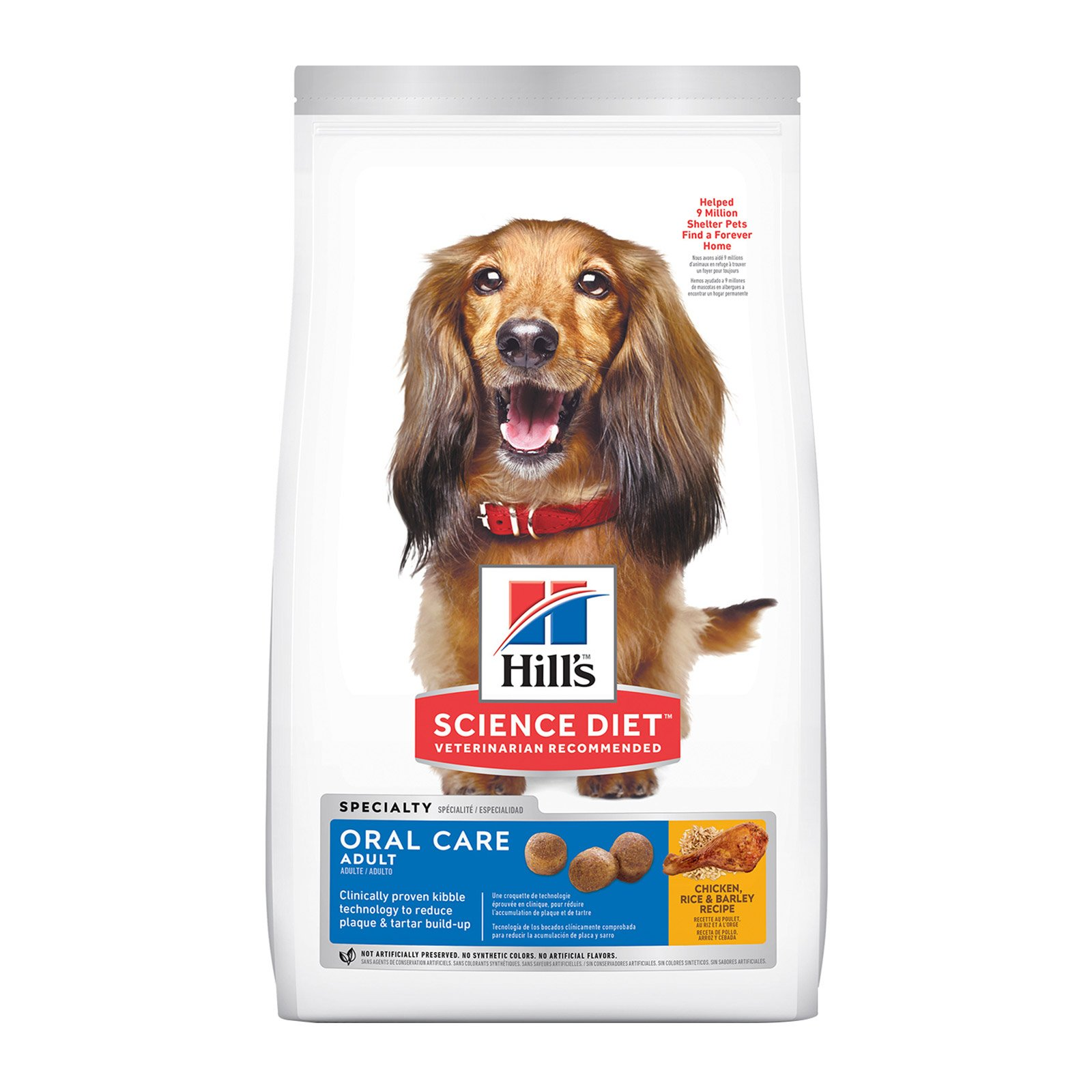 Hill's Science Diet Adult Oral Care Chicken, Rice & Barley Dry Dog Food