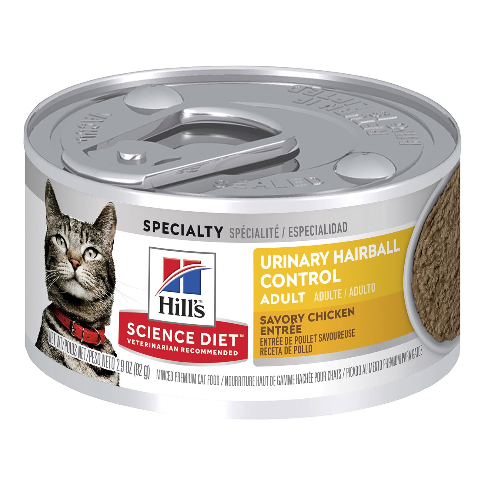 Hill's Science Diet Adult Urinary Hairball Control Chicken Entree Canned Cat Food 82 Gm