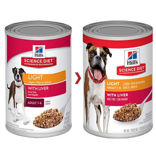 Hill's Science Diet Adult Light Liver Canned Dog Food 370 Gm