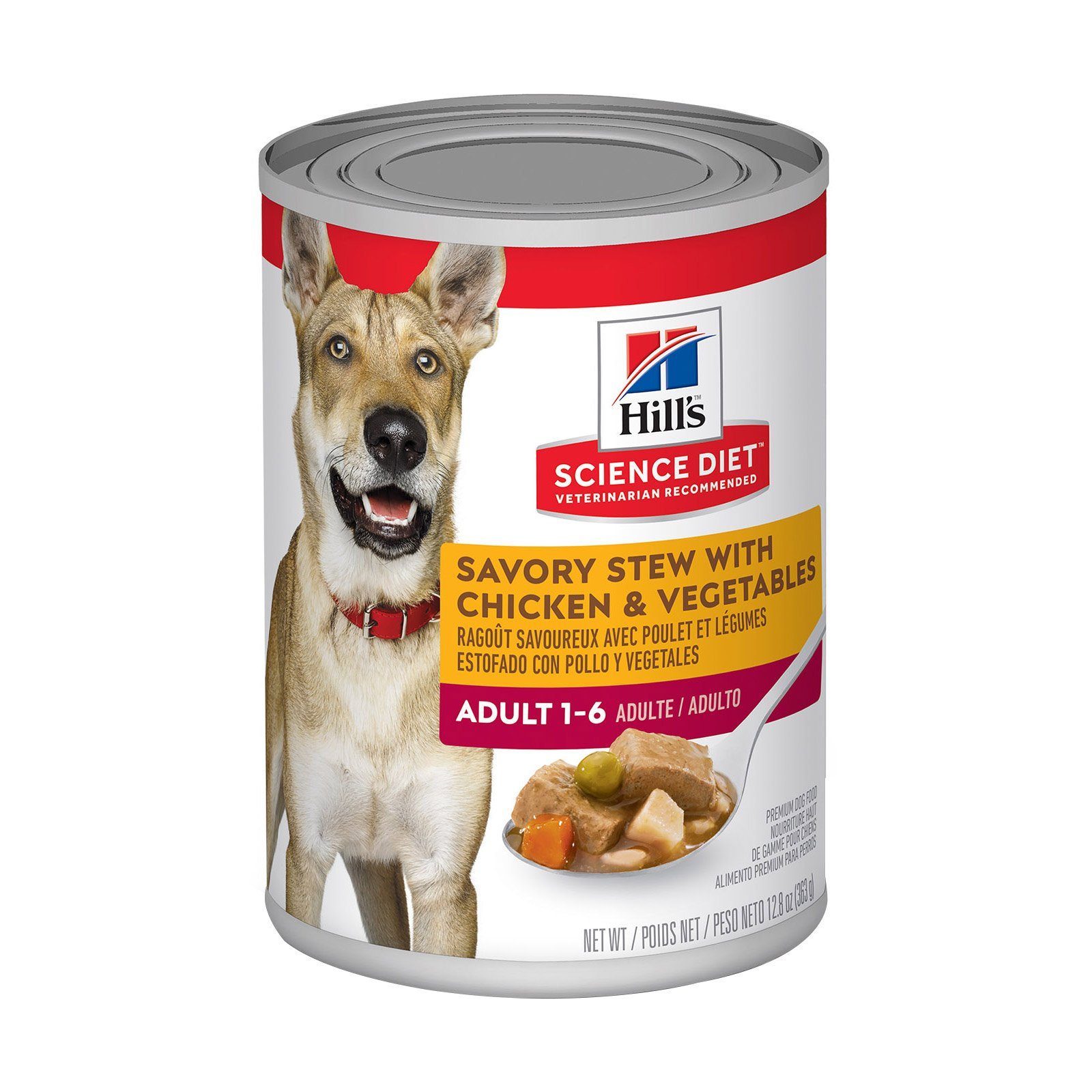 Hill's Science Diet Adult Savory Stew Chicken & Vegetable Canned Dog Food 363 Gm