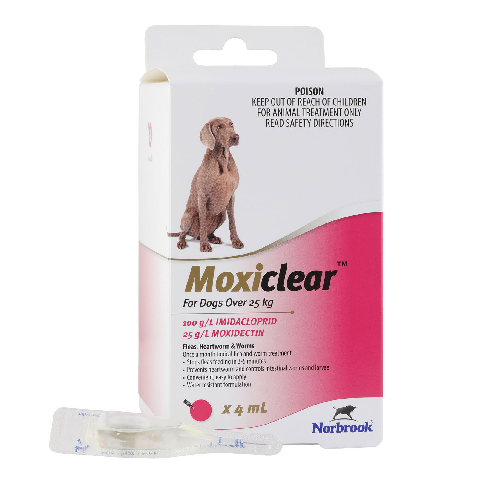 Moxiclear for Large Dogs Over 25 kg (Pink)