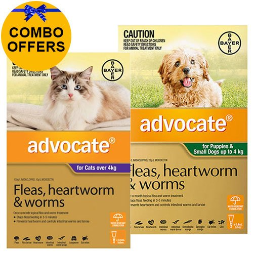 Advocate for Cats Over 4 kg + Advocate for Dogs Combo Pack Small Up To 4kg (Green)