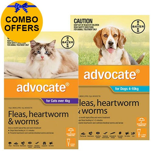 Advocate for Cats Over 4 kg + Advocate for Dogs Combo Pack