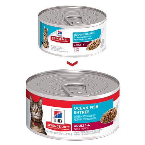 Hill's Science Diet Adult Ocean Fish Entrée Canned Wet Cat Food  156gmX24 Cans