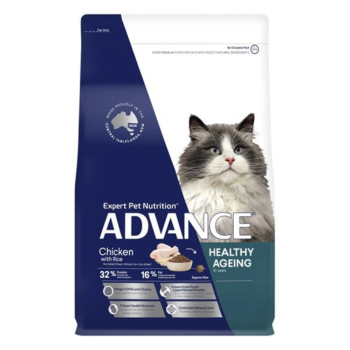 Advance Healthy Ageing Dry Cat Food Chicken & Rice