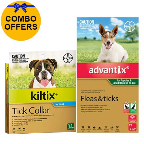 Advantix & Kiltix Combo for Puppies / Small Dogs under 4kg (Green)