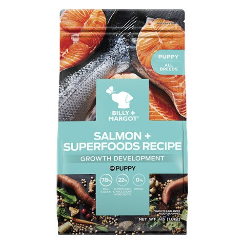 Billy & Margot Dog Puppy Salmon and Superfoods Dry Food