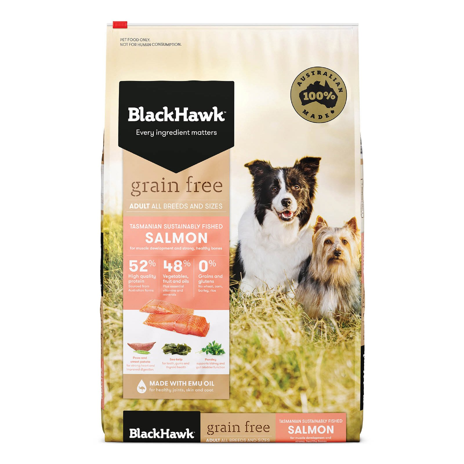 Black Hawk Adult Grain Free Salmon Dry Dog Food
