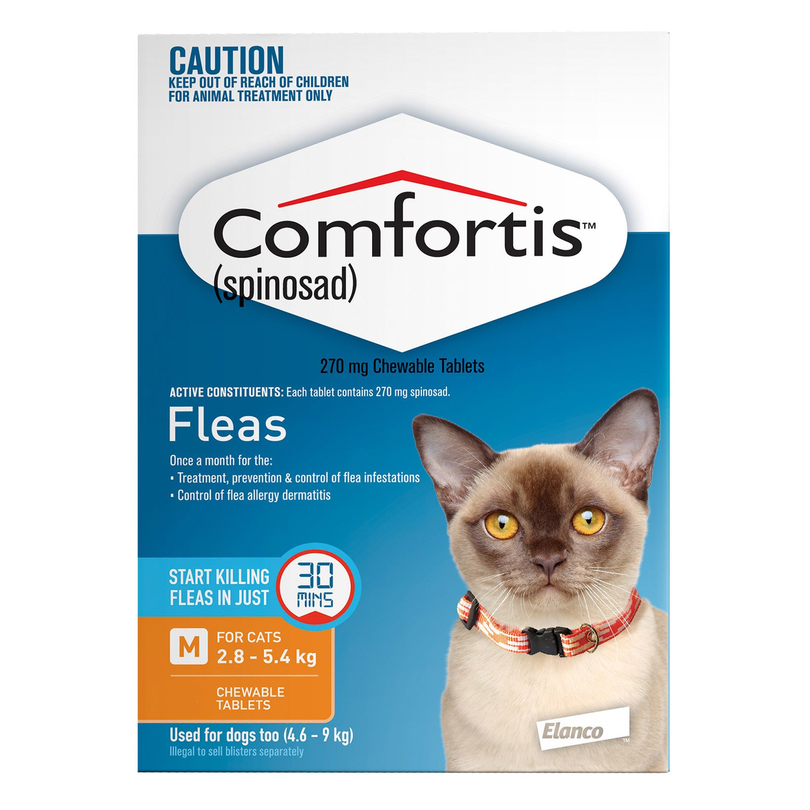 Comfortis For Medium Cats 2.8 - 5.4 KG (Orange)
