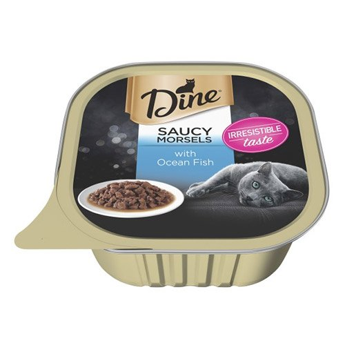 Dine Cat Adult Saucy Morsels Ocean Fish 85g X 14 Cans