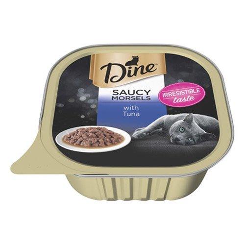 Dine Cat Adult Saucy Morsels Tuna