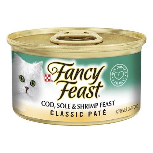 Fancy Feast Cat Adult Classic Cod Sole Shrimp
