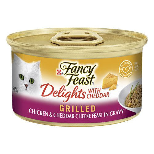 Fancy Feast Cat Adult Delights Cheddar Chicken 85g X 24 Cans