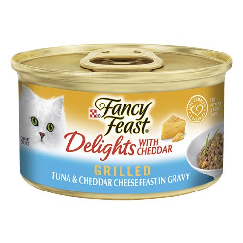 Fancy Feast Cat Adult Delights Cheddar Tuna 85g X 24 Cans