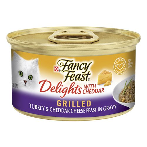 Fancy Feast Cat Adult Delights Cheddar Turkey 85g X 24 Cans