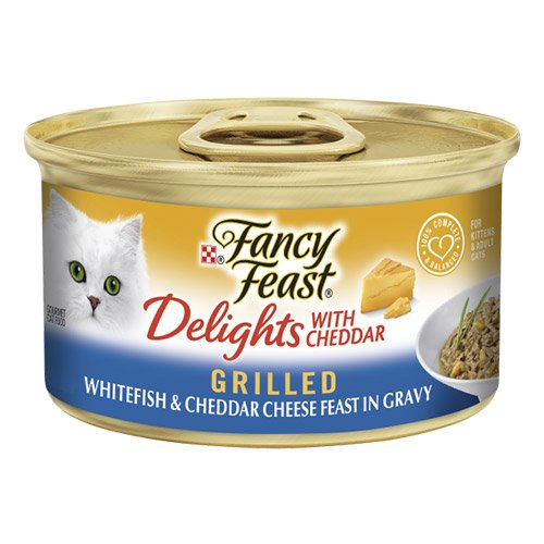 Fancy Feast Cat Adult Delights Cheddar Whitefish 85g X 24 Cans