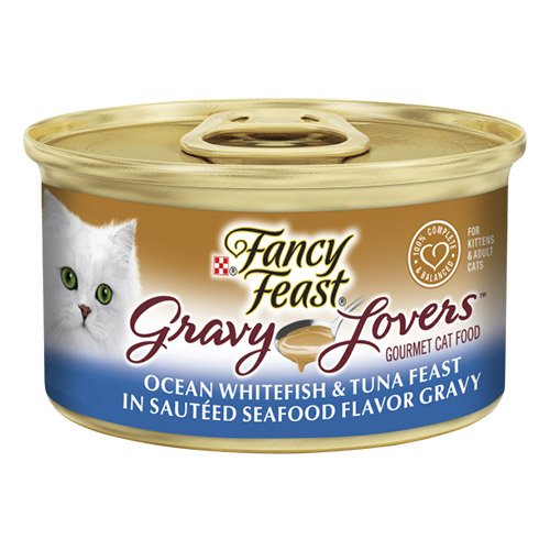 Fancy Feast Cat Adult Gravy Lovers Whitefish & Tuna 85g X 24 Cans