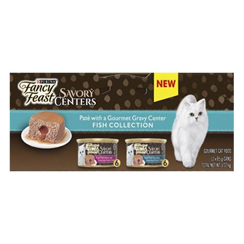 Fancy Feast Cat Adult Savoury Centers Fish Selection 85g X 12 Cans