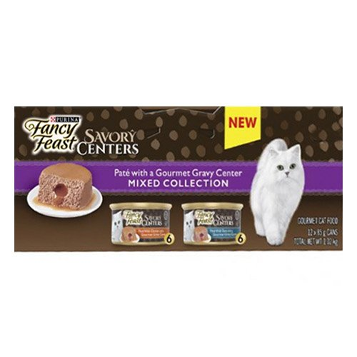 Fancy Feast Cat Adult Savoury Centers Mixed Selection 85g X 12 Cans