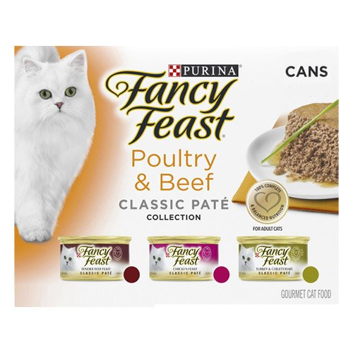 Fancy Feast Cat Adult Variety Pack Poultry and Beef Pate 85g X 24 Cans