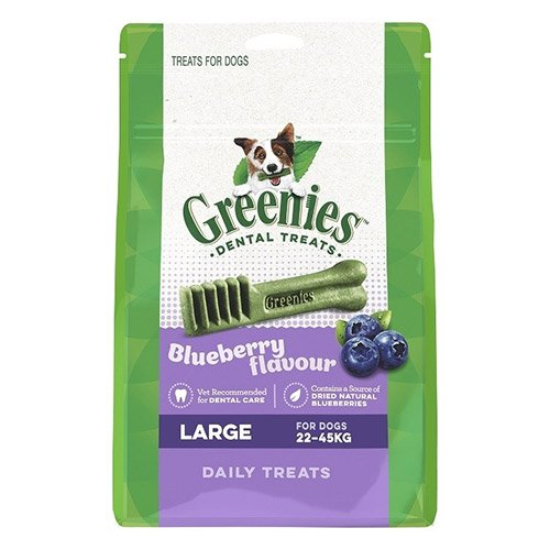 Greenies Blueberry Dental Treats Large for Dogs 340g