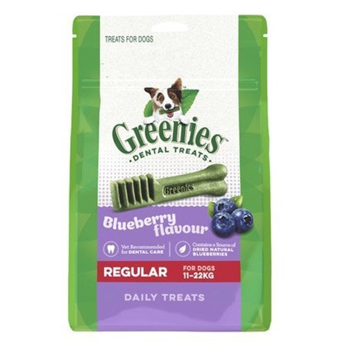 Greenies Blueberry Dental Treats Regular for Dogs 340g