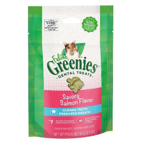 Greenies Feline Dental Treats Salmon Flavour for Cats 60 gm