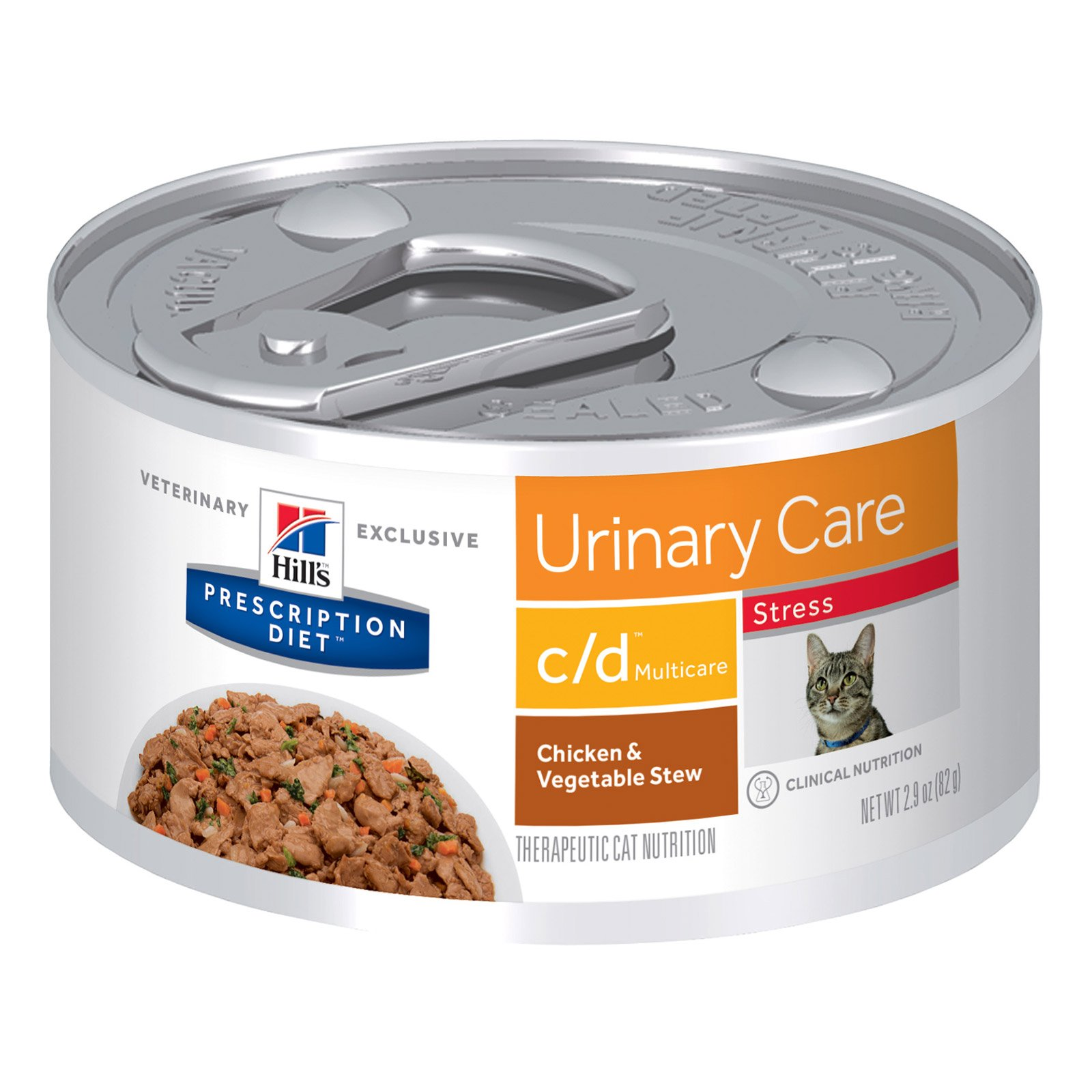 Hill's Prescription Diet c/d Multicare Stress Urinary Care Chicken & Vegetable Stew Canned Cat Food 82 Gm