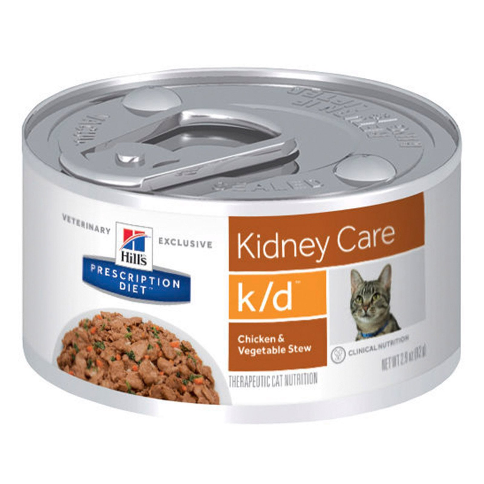 Hill's Prescription Diet k/d Kidney Care with Chicken & Vegetable Stew Canned Cat Food 82 Gm