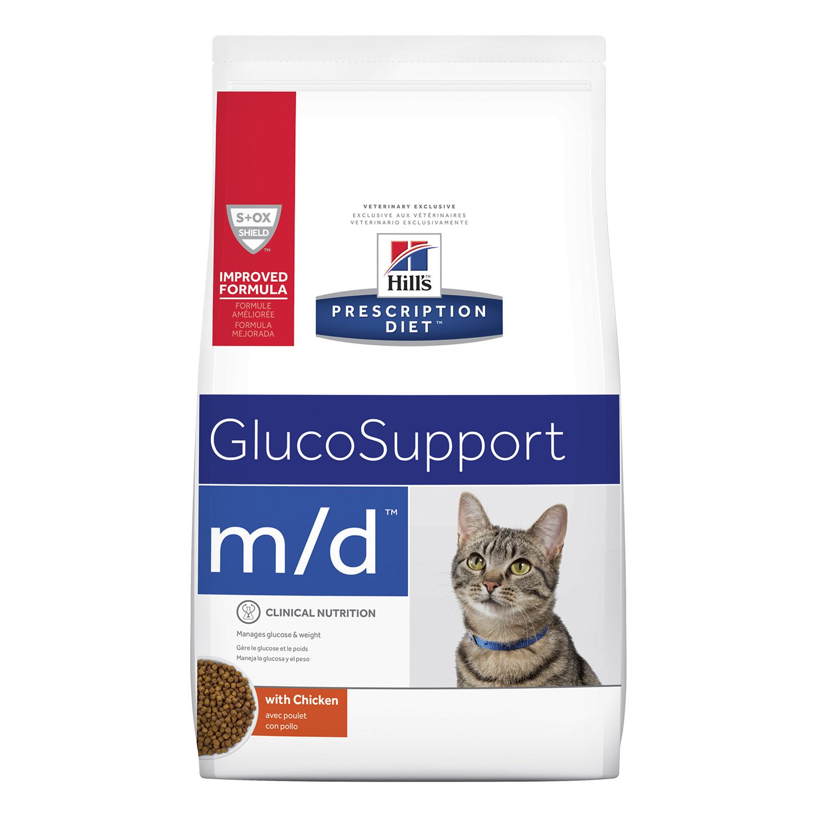 Hill's Prescription Diet m/d Glucose/Weight Management with Chicken Dry Cat Food