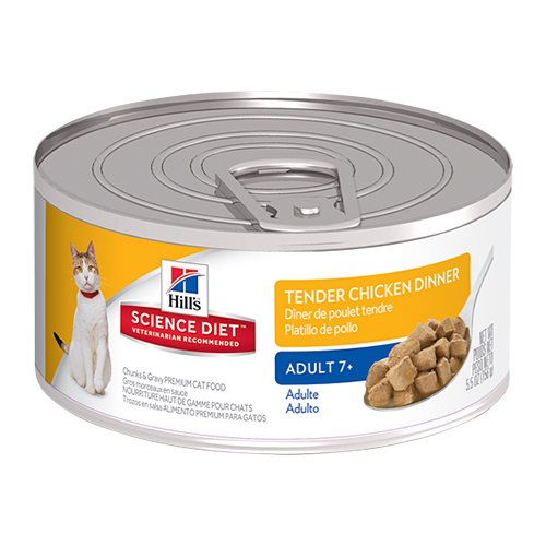 Hill's Science Diet Adult 7+ Tender Dinners Chicken Canned Cat Food  156 gm