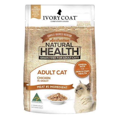 Ivory Coat Cat Adult Grain Free Chicken in Gravy 85g X 12 Pouches