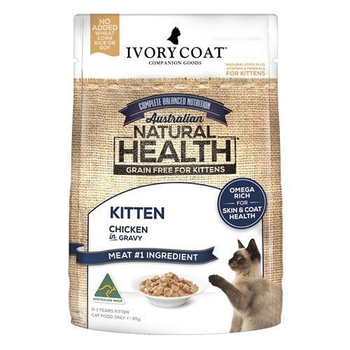 Ivory Coat Cat Kitten Grain Free Chicken in Gravy 85g X 12 Pouches