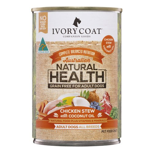 Ivory Coat Dog Adult Grain Free Chicken Stew with Coconut Oil 400g X 12 Cans