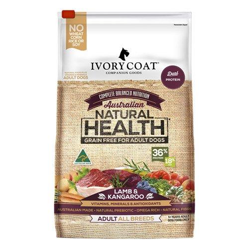 Ivory Coat Dog Adult Grain Free Lamb and Kangaroo Breeder Bag