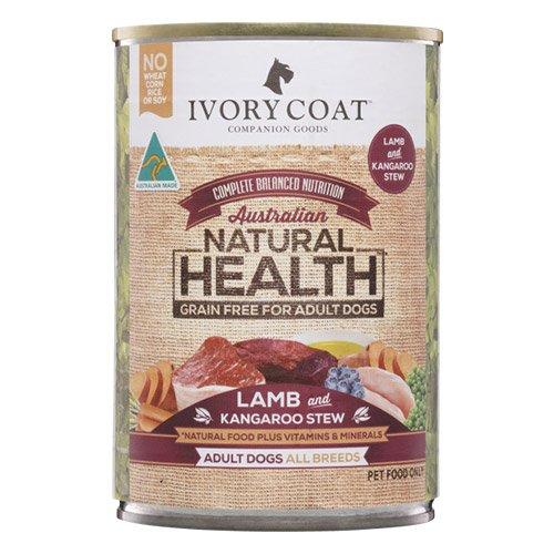 Ivory Coat Dog Adult Grain Free Lamb and Kangaroo Stew 400g X 12 Cans