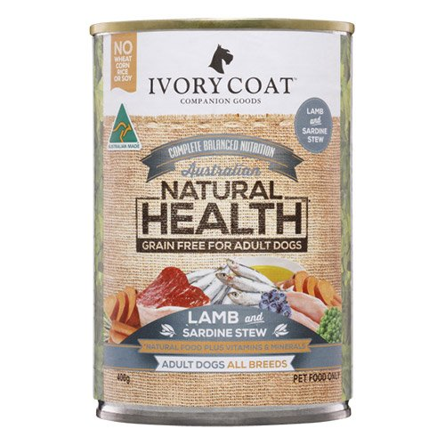 Ivory Coat Dog Adult Grain Free Lamb and Sardine Stew 400g X 12 Cans