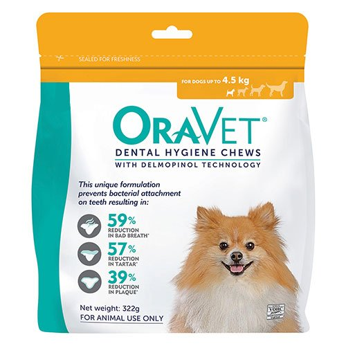 Oravet Dental Chews for X-Small Dogs Up To 4.5 kg (ORANGE)