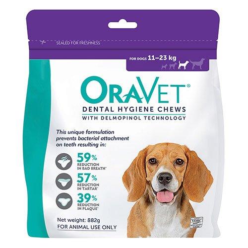 Oravet Dental Chews for Medium Dogs 11-23 kg (28 Pieces) PURPLE