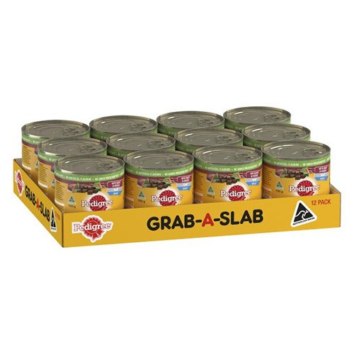 Pedigree Dog Adult Beef and Vegies Loaf  700g X 12 Cans