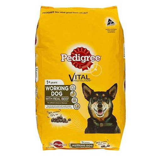 Pedigree Working Dog with Real Beef Food