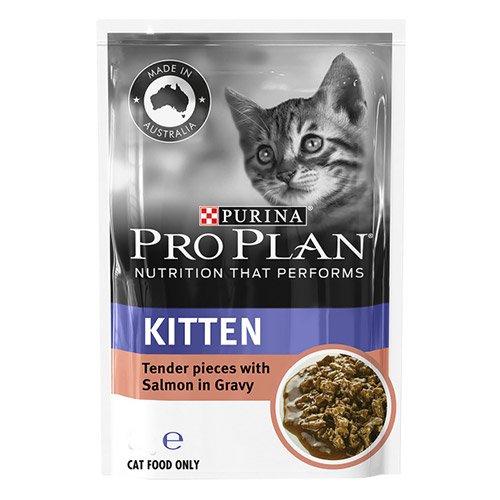 Pro Plan Cat Kitten Salmon Pouch 85g X 12 Pouches